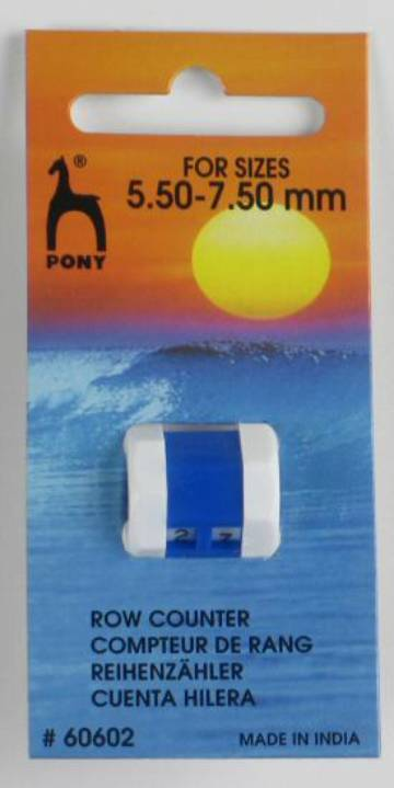 Pony Row Counter Large 5.5mm 7.5mm